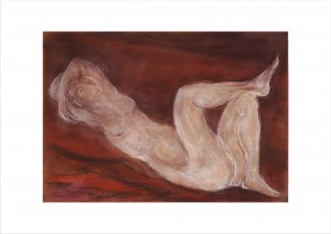 Nude on a Red Sofa
